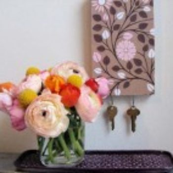 diy project: patterned key rack