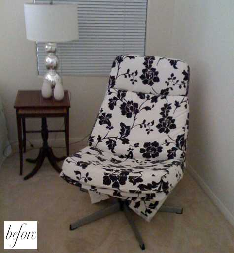 before and after jill s chairs design sponge. Black Bedroom Furniture Sets. Home Design Ideas