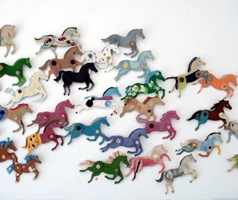 Diy project cardboard stampede w ann wood designsponge in 2006 i started making cardboard horses they were a self imposed assignment a daily creative task intended to motivate and loosen me up solutioingenieria Image collections
