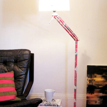 diy project: kate's decoupage lamp