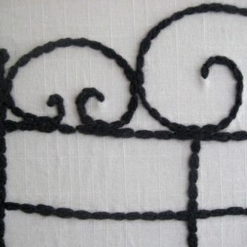 diy project: lydia's embroidered headboard