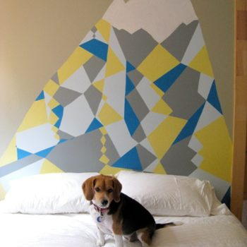 diy project: elizabeth's mountain of a headboard