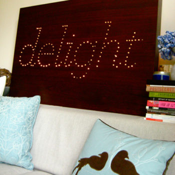 diy idea: maya's twinkle board
