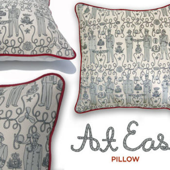 design by the book: julia rothman 'at ease' pillows