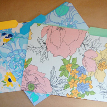 diy project: vintage sheet file folders