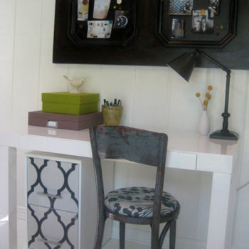 diy project: casey's wallpaper file cabinet