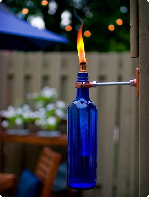 Diy Project Eriks Recycled Wine Bottle Torch Designsponge
