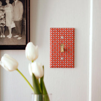 DIY Wallpapered Light Switch Cover