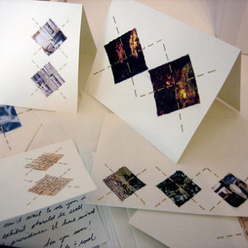 diy project: recycled argyle notecards