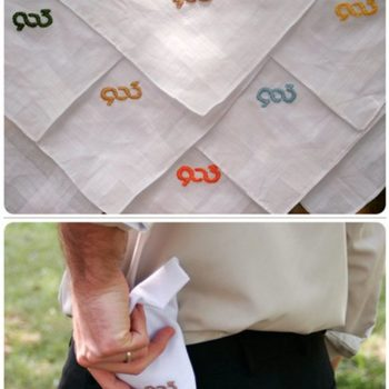 diy project: amanda's embroidered handkerchiefs