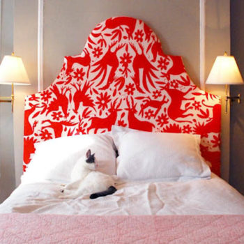 DIY Upholstered Otomi Headboard