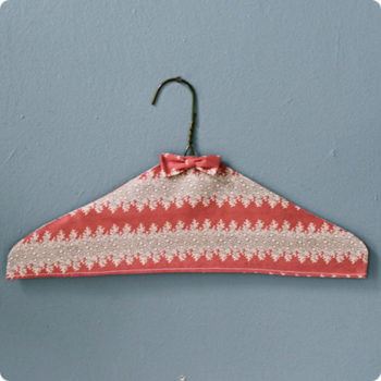 made with love: fabric covered hangers