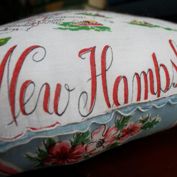 made with love: vintage hankie pillow