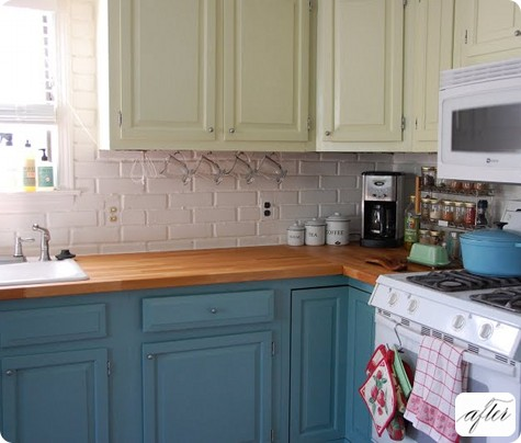 Before after sabrina s kitchen design sponge - Different ways to paint kitchen cabinets ...