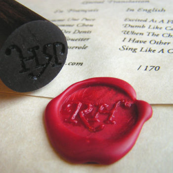 diy project: wooden wax seal