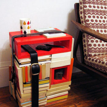diy project: book strap side table