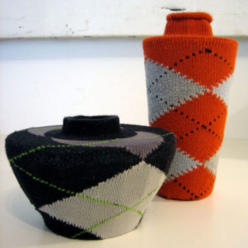 diy project: argyle sock vases