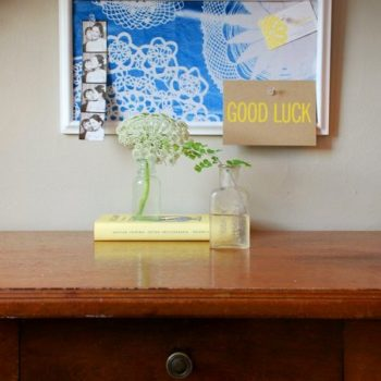 diy video: sunprint corkboard + tray