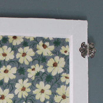 made with love: wallpapered cabinet doors