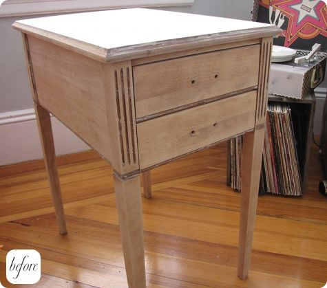 before & after: will's nightstand + wendren's ladder – design*sponge Ladder Nightstand