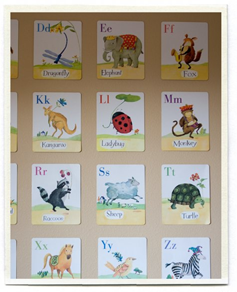 These Animal Cards Hang In My Daughter Bees Room From EeBoo Illustrated By Melissa