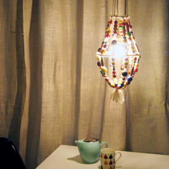 diy project: kate's beaded chandelier