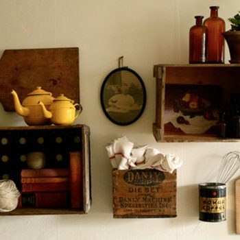 made with love: vintage crate shelves