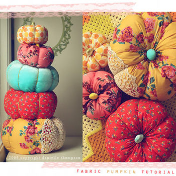 diy project: danielle's pretty fabric pumpkins