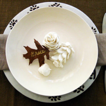 DIY Clay Pinecone Place Settings