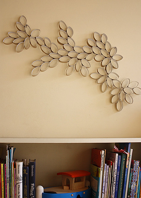 Diy Project Toilet Paper Roll Wall Art Design Sponge