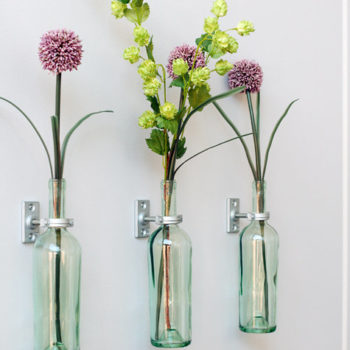 diy project: lindsay's wine bottle vases