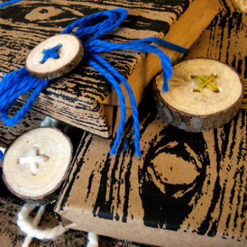 diy project: kate's log buttons