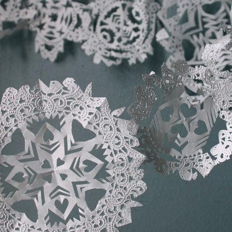 Made With Love Doily Snowflake Garlands Designsponge