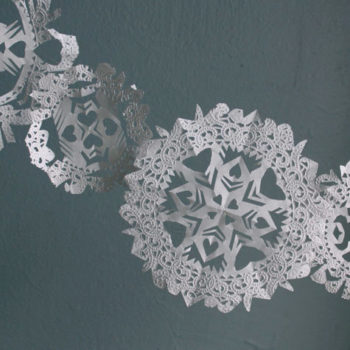 made with love: doily snowflake garlands