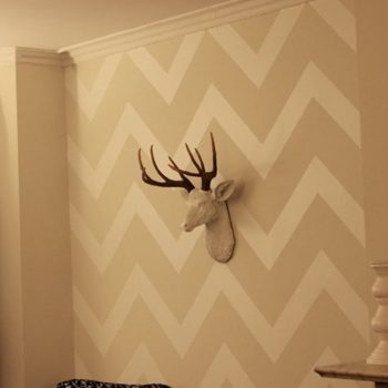 diy idea: contact paper chevron wall