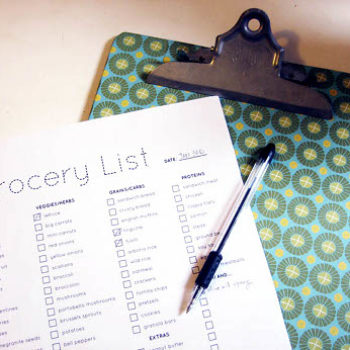 diy project: kate's grocery planner