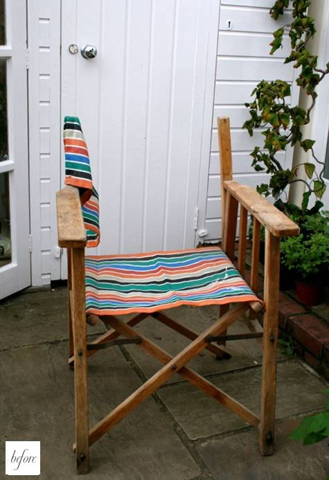 Sally From The Home Tailor Sent In This Fun Director S Chair Makeover Found Feeling Quite Unloved Her Father Law Garage