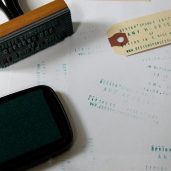 made with love: stamped business cards