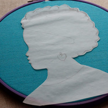 diy project: no. 1 ladies detective agency silhouette