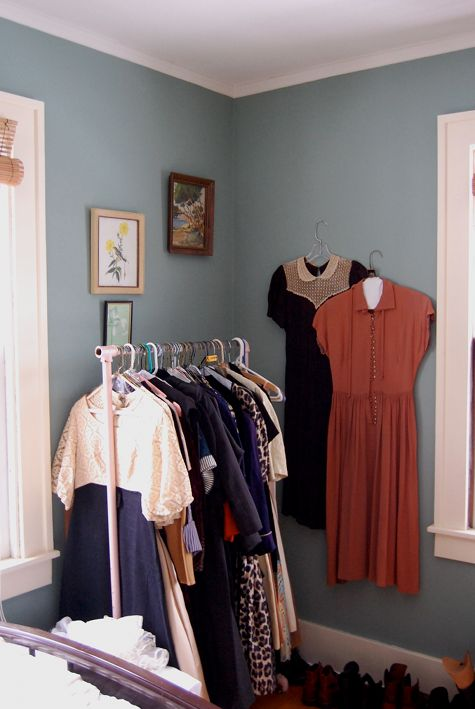 Photo Above The Guest Room Doubles As One Of My Many Closets And Instead Trying To Hide Overflow I Just Made Them Part