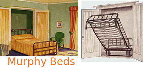 Murphy Library Bed With Swinging Cases