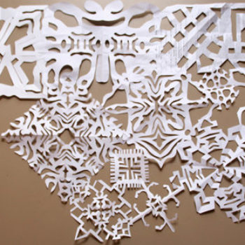 diy project: sarah's snowflake panels + light