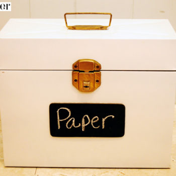 before & after: busy box + file box makeovers