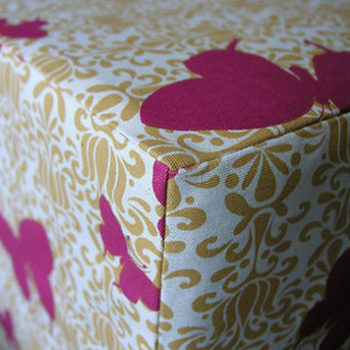 sewing 101: ottoman slip cover