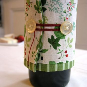 sewing 101: make a wine bottle cozy