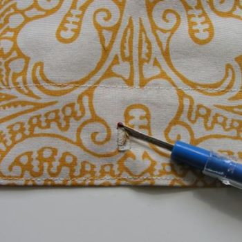 sewing 101: how to make a shower curtain