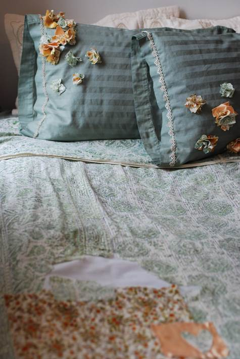 Diy Project Refreshing Old Bed Linens