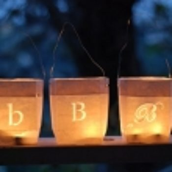 diy project: paper bag lanterns