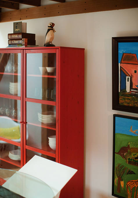 [photo Above: Because Our House Is So Small, Weu0027ve Had To Come Up With Many  Creative Storage Solutions. One Of Which Is This Red (ikea) Cabinet That  Stores ...