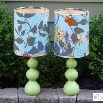 before & after: joëlle's chair + lia's lamps